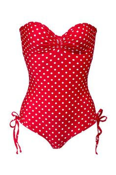 202165f676a 8 Affordable Swimsuits that Flatter Every Body Shape. Flattering SwimsuitsCheap  SwimsuitsVintage SwimsuitsAffordable SwimsuitsPolka Dot One PieceRed ...