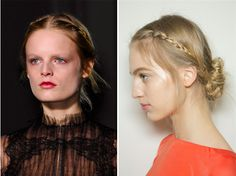 Seven Romantic Hair Styles Ripped from the Runway (Just in Time for Valentine's Day): Valentino couture, spring 2013: Valentino's runways usually showcase the most romantic hair in the biz. Here's the signature braided look they've been showing lately, only messier.