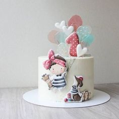 Cakes To Make, How To Make Cake, Baby Cakes, Girl Cakes, Pretty Cakes, Cute Cakes, Cake Designs For Girl, Baby Birthday Cakes, Dream Cake