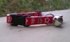Christmas Shapes  Breakaway Adjustable Cat Collar by TheEmPURRium, $8.25