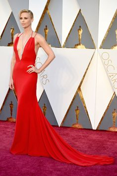 "Charlize Theron in Christian Dior - ""Charlize is red-carpet royalty and this dress absolute perfection on her."""