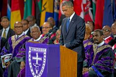 On Friday, President Barack Obama spoke at the funeral for Reverend Clementa Pinckney, the South Carolina pastor and state senator who was murdered along with eight other people in a racially motivated shooting at the Emanuel African Methodist Episcopal Church in Charleston, South Carolina last week.