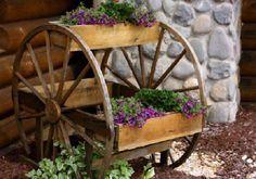 ideas for my yard sale wagon wheels! <3