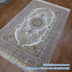 foot, handmade silk rug, classic persian design, medallion in the middle Silk Carpet, Carpet, Oriental, Handmade Rug, Silk Rug, Handmade Rugs, Rugs, Medallion, Rug Making