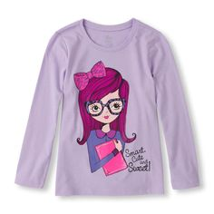 Long Sleeve 'Smart Cute And Sweet!' Graphic Tee