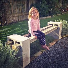 DIY Outdoor Bench Daddy finished our recycled bench seat!Daddy finished our recycled bench seat!
