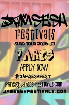 JamSesh Festivals hits #Paris this October on the #JAMSESHFEST EuroTour'16 covering 22 cities in 33 days across Europe and onto 2016/17 AUS & New Zealand Tour offering ARTISTS discovered along the way an opportunity to join the tour group across the EU, all the way down under and beyond! APPLICATIONS NOW OPEN for artists, vendors & volunteers at JAMSESHFESTIVALS.COM to participate in tech support, coordinating, promoting or to donate a venue or exhibition space email…
