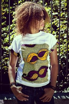 Simple African print T shirt