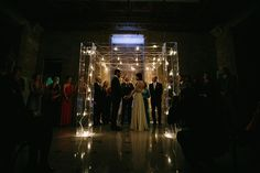 Lucite Chuppah: Custom Ceremony Designs - New York City Wedding at The Wooly from Alec Vanderboom
