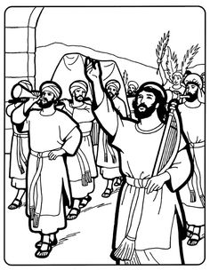 david brings the ark bible coloring pagesking davidchurch