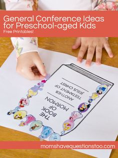 How can I keep my Preschooler entertained so that I can listen to and enjoy General Conference? *Get all of our General Conference printables in one easy download here.* This is a compilation of all the Preschool General Conference Activities that have been posted on Moms Have Questions Too. For my boys, I put each …