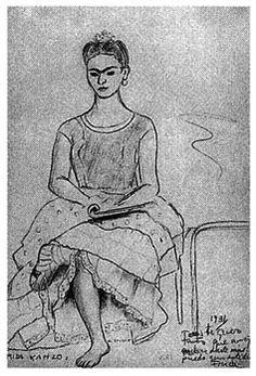 frida kahlo portraits | Frida Kahlo. Self-portrait, sitting, 1931. Collection Teresa Proenza ...