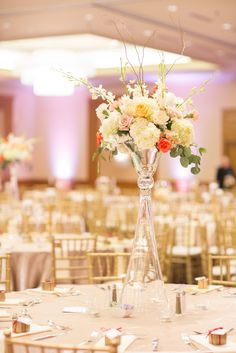 No floral arrangement is too tall for our Regency Ballroom!