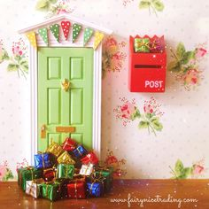 Looks like the Birthday Fairy has visited this Fairy Door!