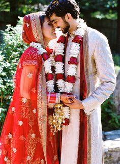 Bold Outdoor Indian Wedding