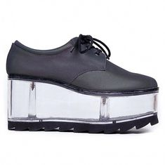 366415ec5b22 NEW Y.R.U. YRU Reflective QLOUD 2091 Platform Oxford Shoe SIZE 6