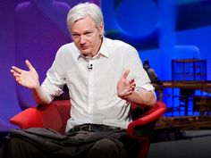 Julian Assange: Why the world needs WikiLeaks via TED Clinton Mo, Bill And Hillary Clinton, Chris Anderson, Blaming Others, Happy May, Z New, Just A Game, World Need, Baghdad