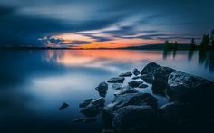 Mirror by Lauri Lohi on Finland Pictures Of Beautiful Places, Cool Photos, Stunning Photography, Landscape Photography, Dawn Pictures, Zen, Beach Rocks, Mirror Image, Photo Mirror