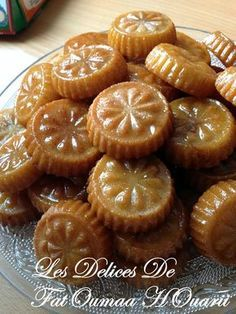 Makrout Fait avec Maamoull ( Empreinte Emporte piece ) Arabic Sweets, Arabic Food, Maamoul Recipe, Eid Cake, Tunisian Food, Middle East Food, Algerian Recipes, Egyptian Food, Biscuit Cookies