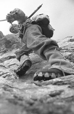 Ascent of Eiger North Face by Stefan Siegrist and Michal Pitelka taken by Thomas Ulrich (www. Mountain Climbing, Rock Climbing, Eiger North Face, Photo Vintage, Elements Of Art, Mountaineering, Extreme Sports, Climbers, Vintage Travel