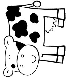 Animals Coloring Pages Farm Animal Crafts, Farm Crafts, Farm Animals, Quilt Patterns Free, Applique Patterns, Farm Lessons, Milk The Cow, Farm Unit, Cowboy Birthday