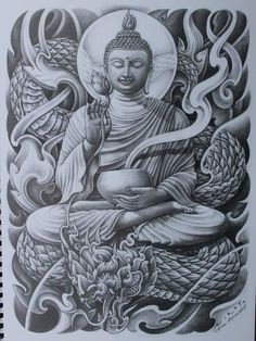 Lessons That Will Get You In The arms of The Man You love Buddha Tattoos, Buddha Tattoo Design, Sleeve Tattoos, Body Art Tattoos, Arm Tattoos, Owl Tattoo Drawings, Tattoo Sketches, Arte Ganesha, Full Tattoo