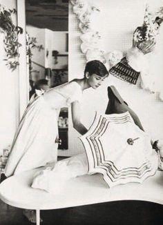 Audrey Hepburn photographed by Franco Fedeli in Burgenstock,Switzerland,1955