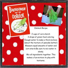 Oobleck recipe