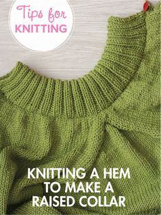 How to create a standing collar on a knit sweater. Easy!