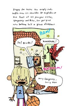 Giant Dinosaur, Sloppy Joe, Bird, Comics, Pets, Birds, Cartoons, Comic, Comics And Cartoons