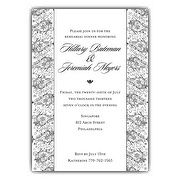Band of Paisley White Rehearsal Dinner Invitations | PaperStyle
