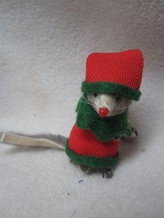 "Vintage Original Fur Toys Germany Miniature Christmas Elf Mouse 2"" Little Mouse | eBay"