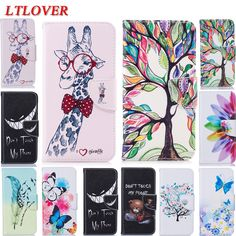 High Quality DIY Lucky tree Flowers Giraffe butterfly PU Leather Cover case For Samsung Galaxy S8 Cases cover Coque wallet stand