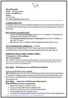 Mba Fresher Resumes  HttpWwwResumecareerInfoMbaFresher