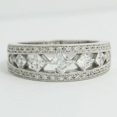 """If diamonds could express your thoughts this 14k white gold #anniversary ring would undoubtedly say that """"I love you""""."""