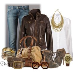 """""""bomber di pelle"""" by doradabrowska on Polyvore"""