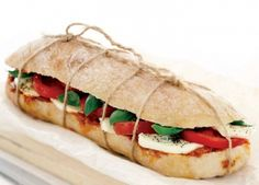 tomato, basil, and mozzarella