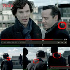 There was a bump on Moriarty's back near his neck when he and Sherlock were on the rooftop, and I think that it was a pack of fake blood under his jacket. I think he may have shot a blank and then fallen over which would pierce the fake blood bag.<<<That's how he survived?!<Brilliant!!<<HIATUS GAVE US THE TIME