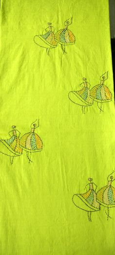 Hand Embroidery Projects, Basic Embroidery Stitches, Embroidery Patterns, Running Stitch, Kurtis, Beautiful Hands, Hand Stitching, Tunics, Tapestry
