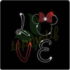 Iron On Transfer Fashionable Love Minnie Mouse Hotfix Pattern Design