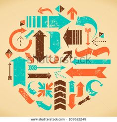 stock vector : A set of web design elements in vintage style.