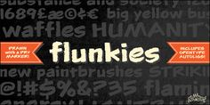 New free font 'Flunkies BB' by Blambot Comic Fonts · Free for personal use · #freefont #font