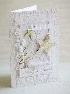 In the pursuit of happiness, watch out for false starts. Handmade Christmas, Christmas Diy, Christmas Cards, 3d Cards, Christmas Inspiration, Quilling, Cardmaking, Hexagons, Scrapbooking