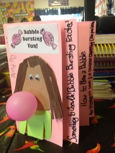 Bubble gum writing activity