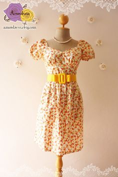 Vintage Princess Floral Tea Dress White with by Amordress on Etsy, $44.00