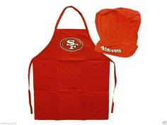 SAN FRANCISO 49ers MEN'S BARBECUE TAILGATING CHEF'S HAT & APRON SET NFL GIFT