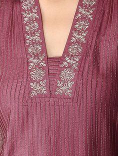 Latest New Kurti Neckline Designs Salwar Neck Designs, Churidar Designs, Kurta Neck Design, Neck Designs For Suits, Neckline Designs, Kurta Designs Women, Designs For Dresses, Blouse Neck Designs, Latest Kurti Designs