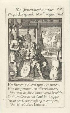 Instrumentenbouwer, Caspar Luyken, Jan Luyken, Jan Luyken, 1694