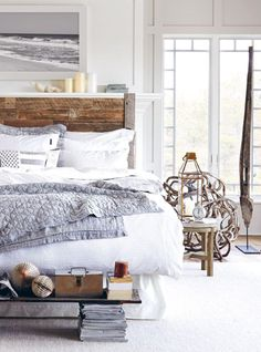 Lexington Home Spring 2015 - Bedroom Decoration Ideas bed linen, bedding, luxury bedding Beach Bedroom Decor, Home Bedroom, Modern Bedroom, Bedroom Furniture, Master Bedroom, Bedroom Ideas, Beach Bedrooms, Log Cabin Furniture, Rustic Bedrooms