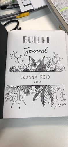 Bullet Journal Monthly Cover Ideas New Edition] - AnjaHome - - Bullet Journal is a nice system to manage your time better and see what you're doing. There may even be an art movement about making this journal. Bullet Journal School, Bullet Journal Inspo, Bullet Journal Front Page, Bullet Journal Quotes, Bullet Journal Aesthetic, Bullet Journal Notebook, Bullet Journal Ideas Pages, Bullet Journal Spread, Bullet Journal How To Start A Layout
